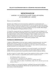 Mémorandum remis à M. Christoph Blocher , Conseiller ... - CRAN