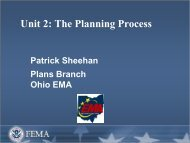 The Planning Process - Ohio Emergency Management Agency