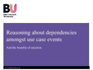 Dependencies in Use Cases.