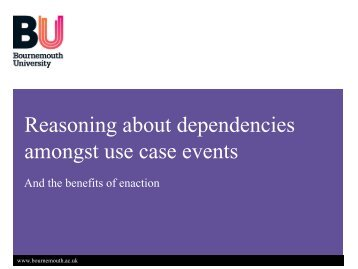 Dependencies in Use Cases.