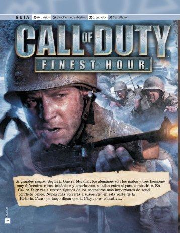 Descargar Call of duty: Finest Hour - Mundo Manuales