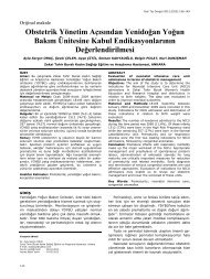 Obstetrik Yönetim Açısından Yenidoğan Yoğun ... - Yeni Tıp Dergisi