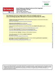 Huybers, P. et al., Early Pleistocene glacial cycles and the integrated ...