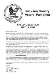 Jackson County Voters' Pamphlet - Jackson County Oregon