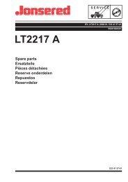 IPL, LT2217 A, 96041004301, 2008-01, Tractor - Jonsered
