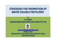 strategies for promotion of water soluble fertilizers - The Fertiliser ...