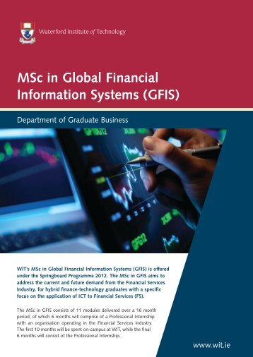 MSc in Global Financial Information Systems (GFIS) - Waterford ...