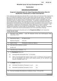 ASN124 Alternative Site Questionnaire WR Representor 3151