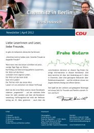 Newsletter | April 2012 Liebe Leserinnen und Leser ... - Frank Heinrich