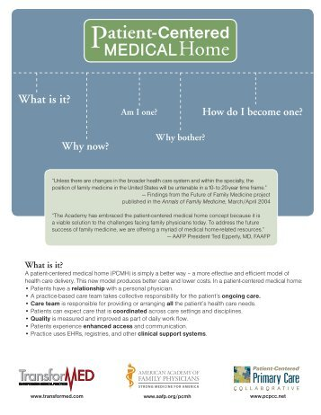 Patient-Centered Medical Home Handout - Louisiana Academy of ...