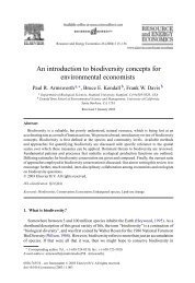 An introduction to biodiversity concepts for environmental economists