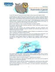 Explorando el glaciar