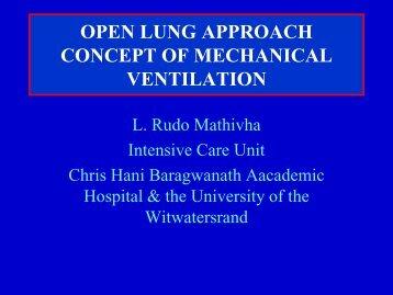 open lung approach concept of mechanical ventilation