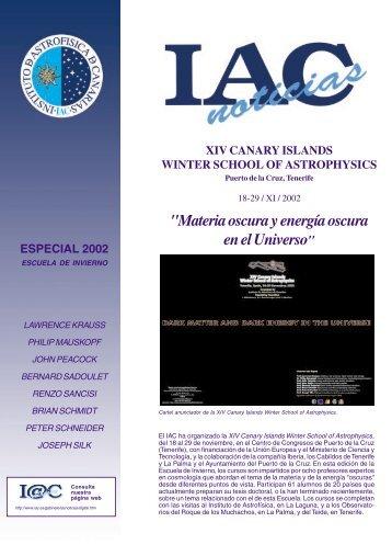 Winter School 2002 - Instituto de Astrofísica de Canarias