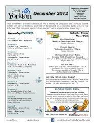 December 2012 - City of Yorkton