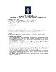 curriculum vitae - Universidad del Cauca