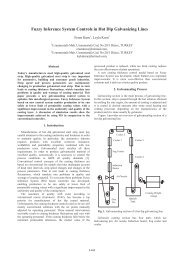 Fuzzy Inference System Controls in Hot Dip Galvanizing Lines