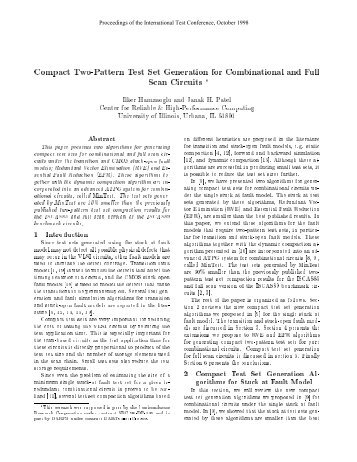 Compact Two-Pattern Test Set Generation