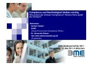 Compliance und Nachhaltigkeit - h&z Unternehmensberatung AG