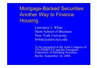 Mortgage Backed Securities: Another Way to Finance Housing