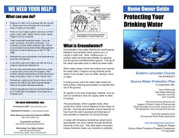 brochure - Water Resources Education Network - League of Women ...