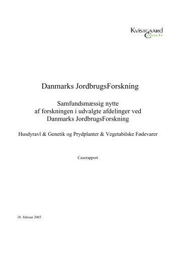 Danmarks JordbrugsForskning - Hyben Vital ApS