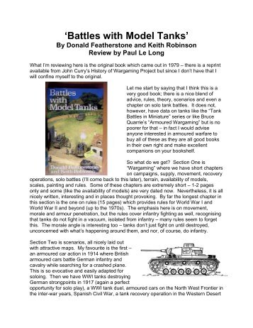 'Battles with Model Tanks' book - Lone Warrior Blog