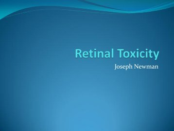 Retinal Toxicity - Healthcare Professionals