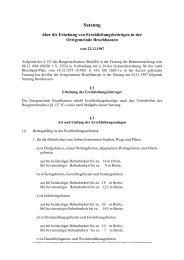 Satzung über die Erhebung von Erschließungsbeiträgen