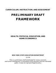 Draft Framework - p-12 - New York State Education Department