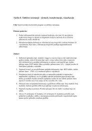 Vježba 6: Tablično računanje – formule, transformacije, vizualizacija