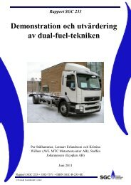 Demonstration och utvärdering av dual-fuel-tekniken - SGC