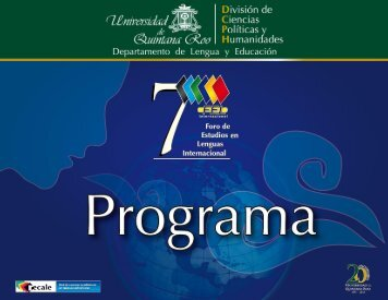 5 - Foro de Estudios en Lenguas Internacional - Universidad de ...