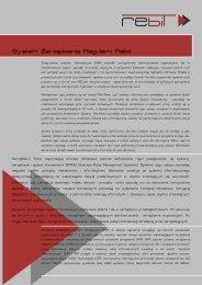 Tradycyjne systemy informatyczne (ERP) pozwoliły ... - Rebit - AGH