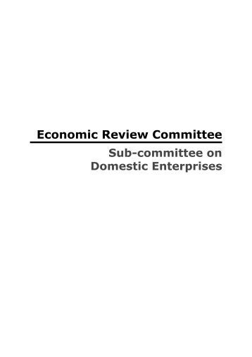 Sub-committee on Domestic Enterprises - Ministry of Trade and ...