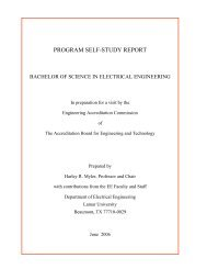 program self-study report - Lamar University Electrical Engineering