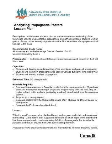 Recommended Grade Range: Grades 10-12 - Canadian War Museum