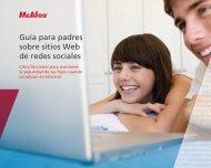 Guía para padres sobre sitios Web de redes sociales - McAfee