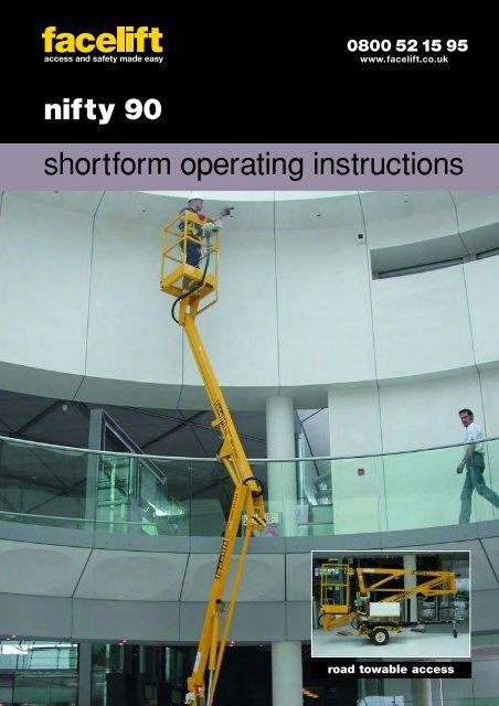 shortform operating instructions - Facelift