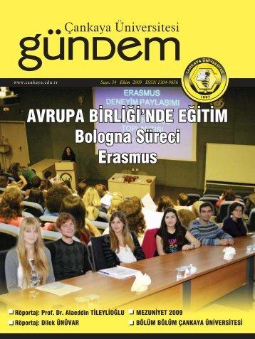 bologna süreci - Çankaya Üniversitesi