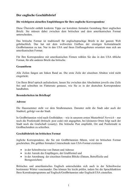 Der Englische Geschäftsbrief Office Lexikon