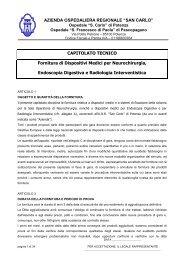 ok Capitolato Tecnico - Ospedale San Carlo