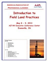 Introduction to Field Land Practices - American Association of ...
