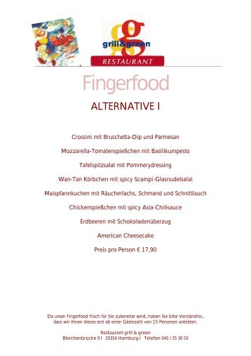 ALTERNATIVE I - Grill and Green oder