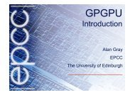 GPGPU Introduction - Prace Training Portal