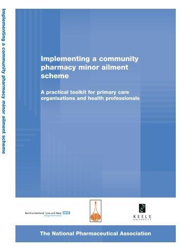 Implementing a community pharmacy minor ailment scheme