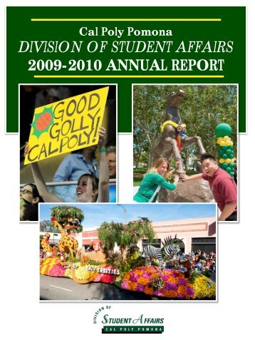 division of student affairs 2009-2010 annual report - Cal Poly Pomona