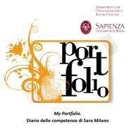 My Portfolio. Diario delle competenze di Sara Milano