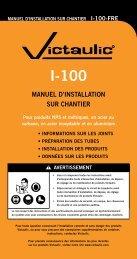 MANUEL D'INSTALLATION SUR CHANTIER - Victaulic