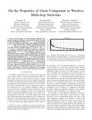 On the Properties of Giant Component in Wireless Multi-hop Networks